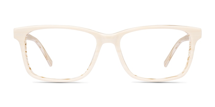 Prologue Cream Acetate Eyeglass Frames from EyeBuyDirect