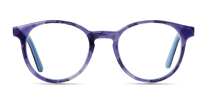 Lariat Purple Striped Acetate Eyeglass Frames from EyeBuyDirect
