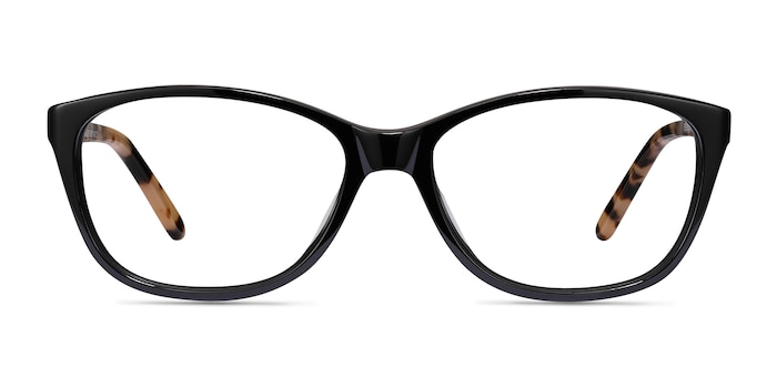 Masque Black Acetate Eyeglass Frames from EyeBuyDirect