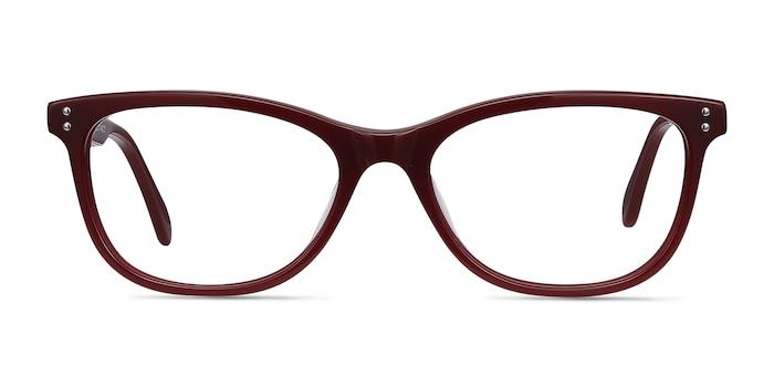 Prodigy Burgundy Acétate Montures de Lunette de vue d'EyeBuyDirect