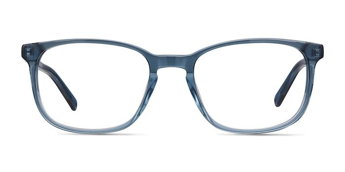 Emblem Blue Acetate Eyeglass Frames from EyeBuyDirect