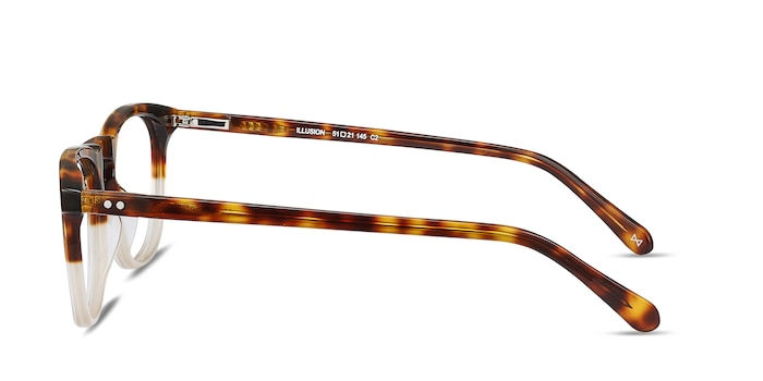 Illusion Tortoise Clear Acetate Eyeglass Frames from EyeBuyDirect