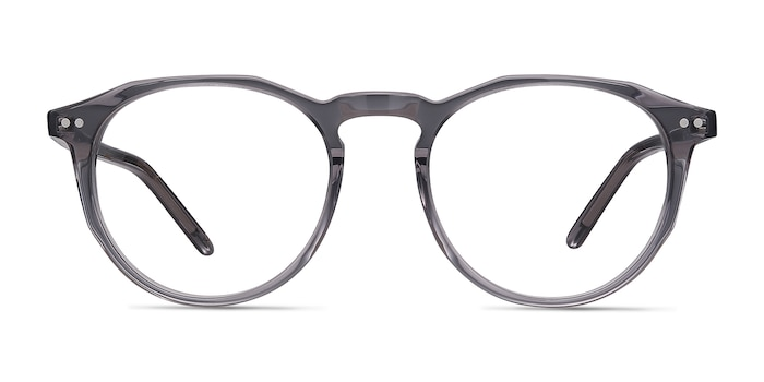 Planete Gray Clear  Acetate Eyeglass Frames from EyeBuyDirect