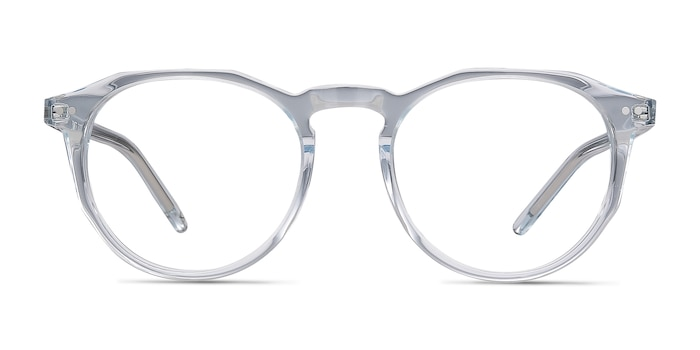 Planete Clear Blue Acetate Eyeglass Frames from EyeBuyDirect