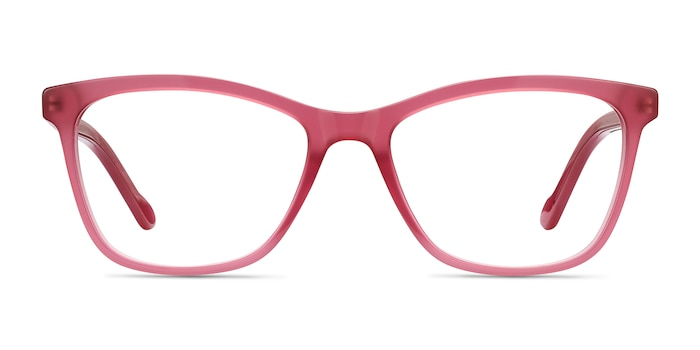 Cannes Clear Raspberry Acetate Eyeglass Frames from EyeBuyDirect