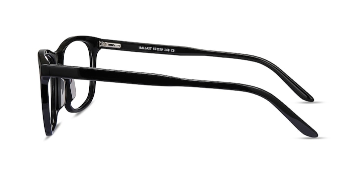Ballast Black Acetate Eyeglass Frames from EyeBuyDirect