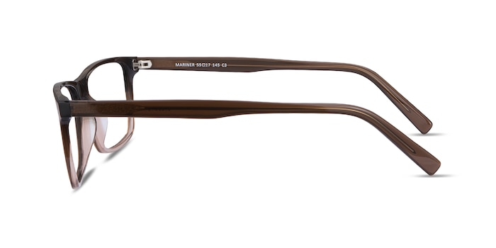 Mariner Clear Brown Acetate Eyeglass Frames from EyeBuyDirect