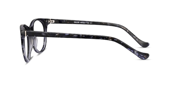 Delle Gray Floral Acetate Eyeglass Frames from EyeBuyDirect