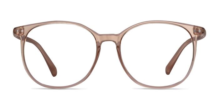 Lucia Champagne Plastic Eyeglass Frames from EyeBuyDirect