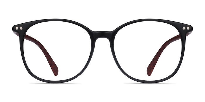 Lucia Matte Black Plastic Eyeglass Frames from EyeBuyDirect