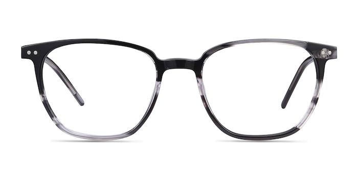 Regalia Gray Striped Acétate Montures de Lunette de vue d'EyeBuyDirect