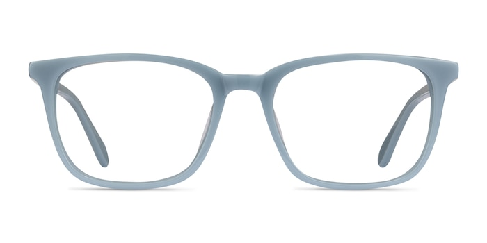 Etched Blue Acetate Eyeglass Frames from EyeBuyDirect