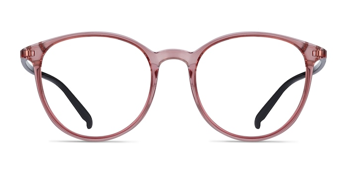 Macaron Clear Pink Plastic Eyeglass Frames from EyeBuyDirect