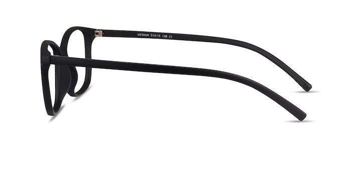 Median Black Plastic Eyeglass Frames from EyeBuyDirect