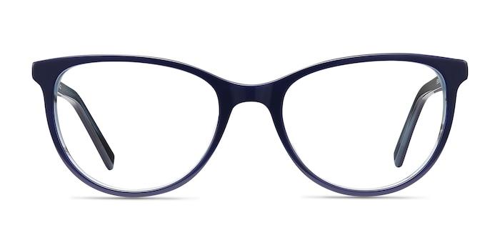 Sphinx Blue Striped Acetate Eyeglass Frames from EyeBuyDirect