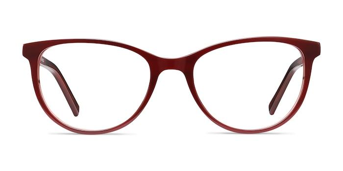 Sphinx Red Striped Acétate Montures de lunettes de vue d'EyeBuyDirect