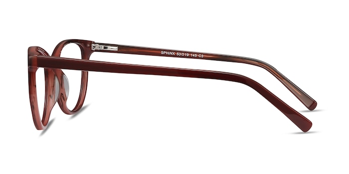 Sphinx Red Striped Acetate Eyeglass Frames from EyeBuyDirect
