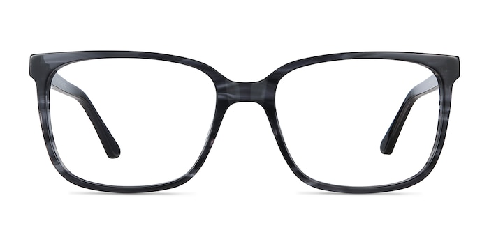 Formula Gray Striped Acetate Eyeglass Frames from EyeBuyDirect