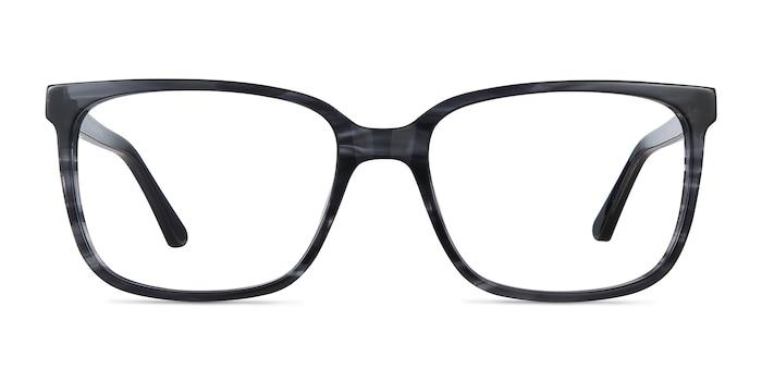 Formula Gray Striped Acétate Montures de Lunette de vue d'EyeBuyDirect