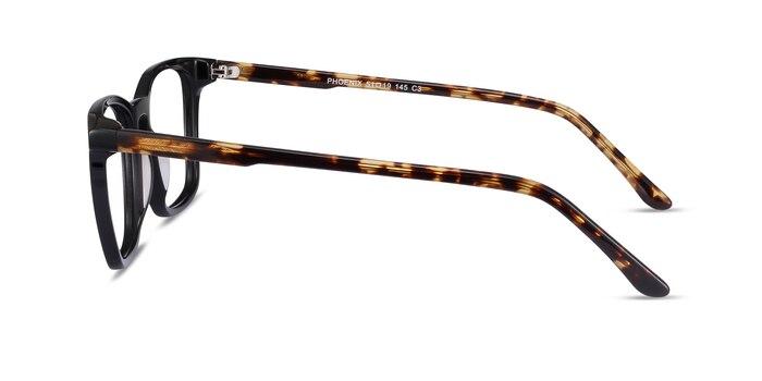 Phoenix Black Tortoise Acetate Eyeglass Frames from EyeBuyDirect