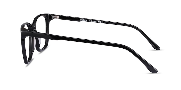 Phoenix Black Acetate Eyeglass Frames from EyeBuyDirect