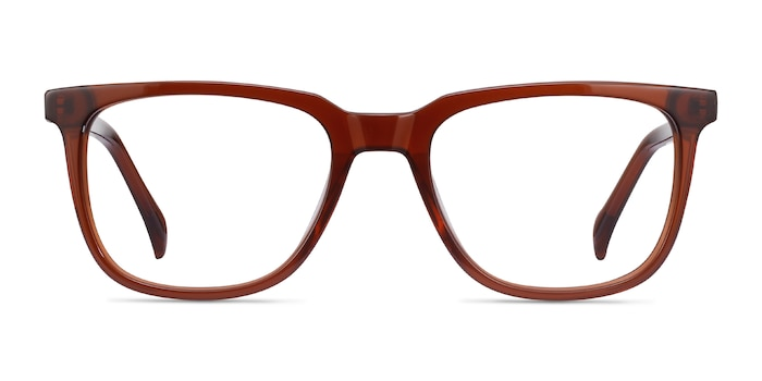 Girona Brown Acetate Eyeglass Frames from EyeBuyDirect