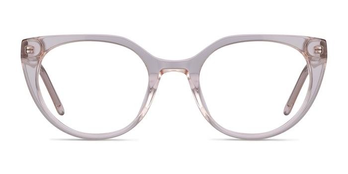 Rhyme Clear brown Acetate Eyeglass Frames from EyeBuyDirect