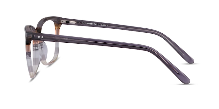 North Gray Striped Acetate Eyeglass Frames from EyeBuyDirect