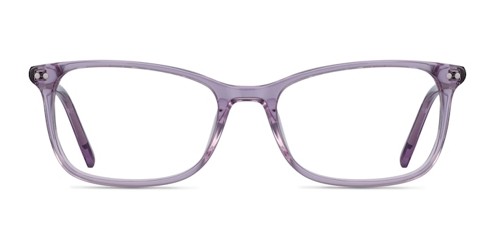 Alette Clear Purple Acetate Eyeglass Frames from EyeBuyDirect