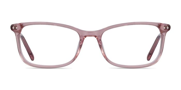 Alette Clear Pink Acetate Eyeglass Frames from EyeBuyDirect