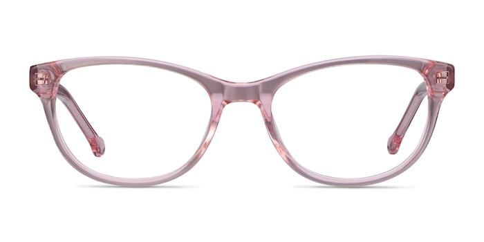 Thinker Clear Pink Acetate Eyeglass Frames from EyeBuyDirect