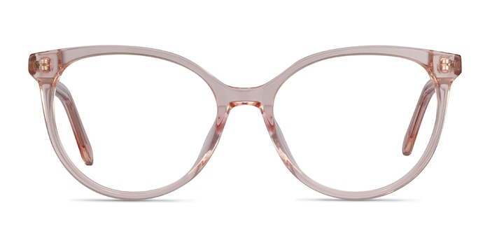 Nala Clear Pink Acetate Eyeglass Frames from EyeBuyDirect