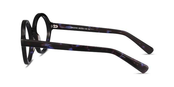 Groove Blue Tortoise Acetate Eyeglass Frames from EyeBuyDirect