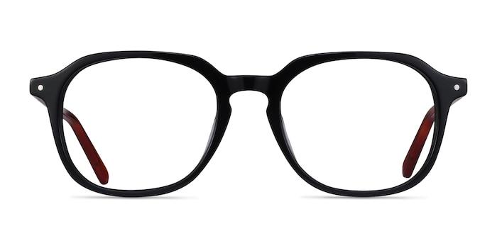 Atlantic Black Acetate Eyeglass Frames from EyeBuyDirect