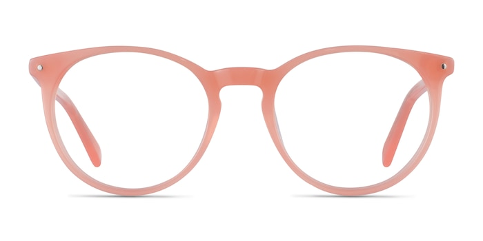 Fleury Pink Orange Acetate Eyeglass Frames from EyeBuyDirect