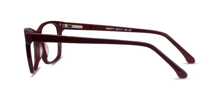 Annett Burgundy Acetate Eyeglass Frames from EyeBuyDirect