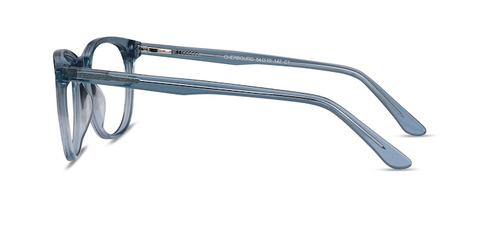Cherbourg Clear Blue Acetate Eyeglass Frames from EyeBuyDirect
