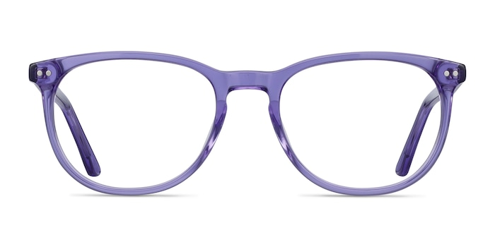 Cherbourg Purple Acetate Eyeglass Frames from EyeBuyDirect