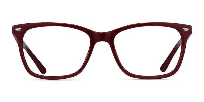 Varda Burgundy Acetate Eyeglass Frames from EyeBuyDirect