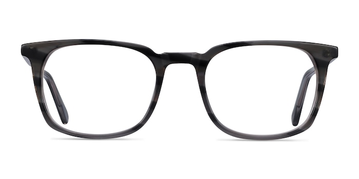 Gabor Gray Striped Acetate Eyeglass Frames from EyeBuyDirect