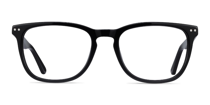 Gato Black Acetate Eyeglass Frames from EyeBuyDirect