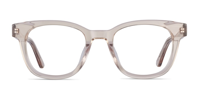 Lighthouse Champagne Acetate Eyeglass Frames from EyeBuyDirect
