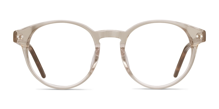 Manara Champagne Acetate Eyeglass Frames from EyeBuyDirect