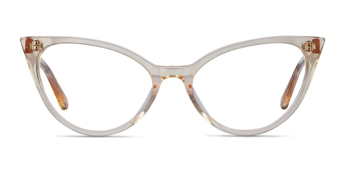 Quartet Clear Yellow Acetate Eyeglass Frames from EyeBuyDirect