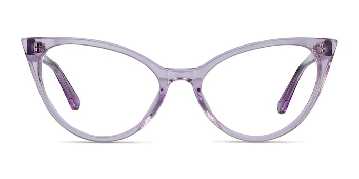 Quartet Clear Purple Acetate Eyeglass Frames from EyeBuyDirect