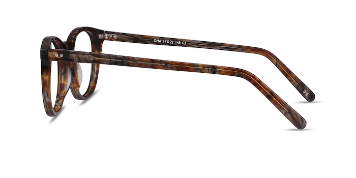 Ona Marbled Havana Acetate Eyeglass Frames from EyeBuyDirect