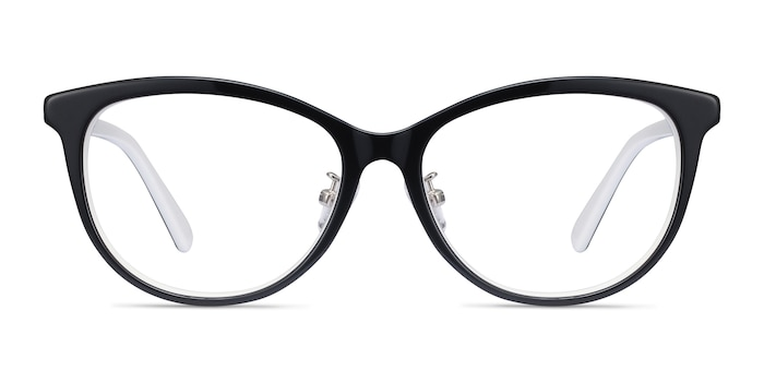 Helena Black White Acetate Eyeglass Frames from EyeBuyDirect