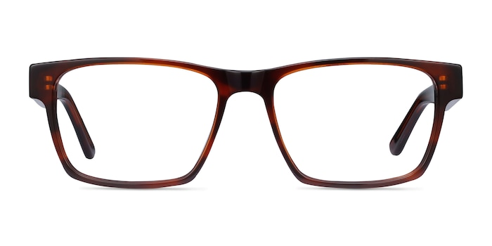 Reyes Brown Acetate Eyeglass Frames from EyeBuyDirect