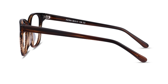 Patra Brown Striped Acetate Eyeglass Frames from EyeBuyDirect