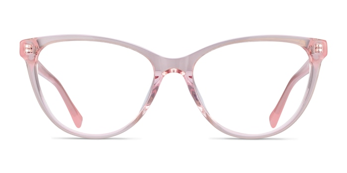 Sing Clear Pink Acetate Eyeglass Frames from EyeBuyDirect